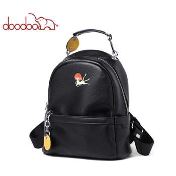 doodoo敦煌联名女士双肩包背包书包旅行包D9638