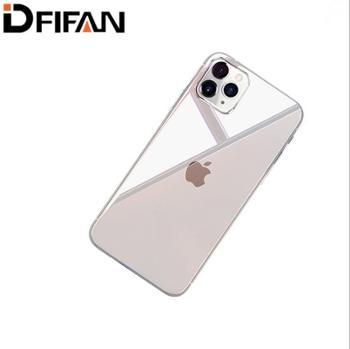 迪菲帆苹果X钢化玻璃手机壳iPhoneXSMax玻璃超薄XR透明手机背壳iPhoneXR防摔套女iPhone7xsmax苹果8透明硬壳保护套