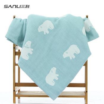 三利 毛巾被小毛毯午睡毯子空调被 薄款纯棉