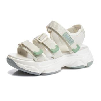 三个儿子厚底凉鞋夏季外穿鱼嘴休闲女鞋