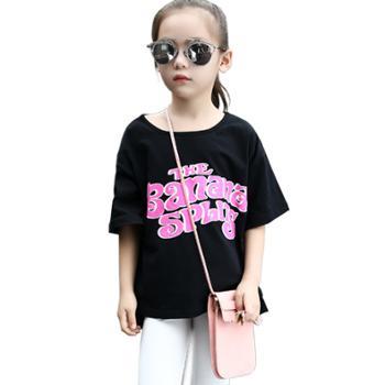 小丫宝贝韩版女童卡通t恤母女装亲子装上衣