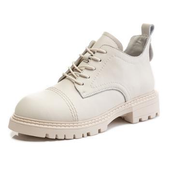 三个儿子秋季英伦风马丁靴休闲真皮小短靴