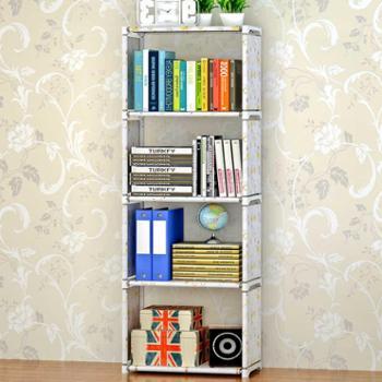 索尔诺加宽加高款五层书架时尚自由组装实用环保书架置物架层架