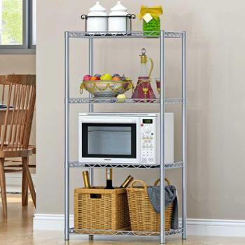 索尔诺加固铁艺落地式厨房/浴室四层置物层架整理收纳架