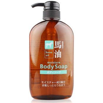 熊野油脂无硅弱酸性马油沐浴露600ml/瓶