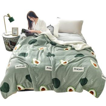 冬冬宝双层羊羔绒毯AB版加厚保暖办公室午睡毯