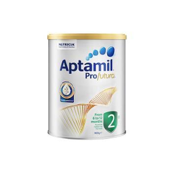 【保税仓】Aptamil澳洲爱他美白金版婴儿奶粉2段900g/罐(6-12个月)