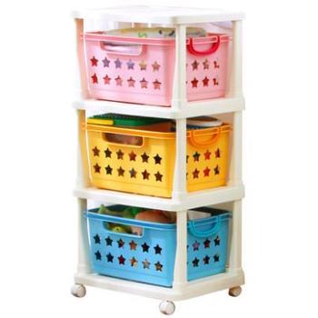 爱丽思IRIS 儿童环保彩色多层玩具收纳筐整理架塑料置物架KBR-030