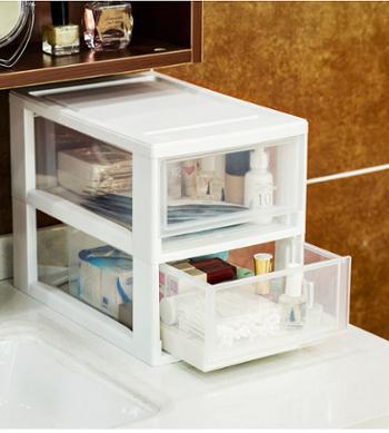 爱丽思透明抽屉式收纳箱BC320小物收纳箱爱丽丝桌面收纳
