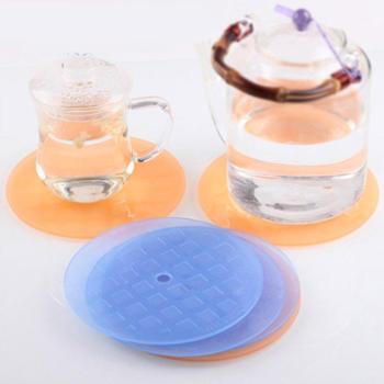 2包6片装茶花隔热垫餐桌垫防烫碗垫杯垫厨房餐具垫锅垫盘子垫PP材质隔热垫