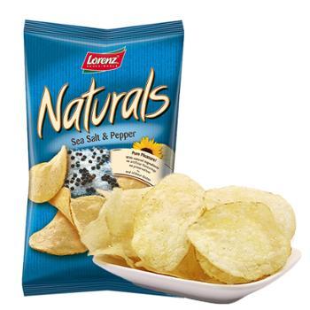 劳仑兹 德国进口 薯片 海盐胡椒味 100*2袋