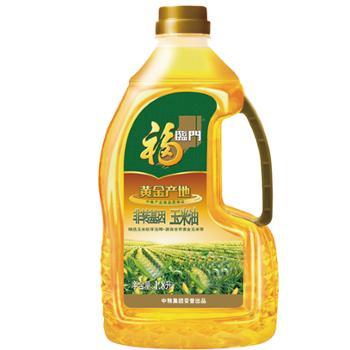 福临门 中粮出品 黄金产地一级压榨玉米油 1.8L