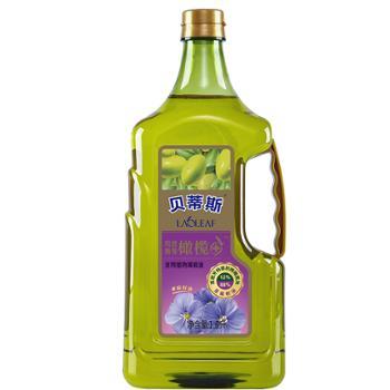 贝蒂斯 亚麻籽橄榄调和油 12%特级初榨橄榄油 1.6L