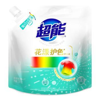 超能花漾护色洗衣液(自然悦香)2.5kg/袋