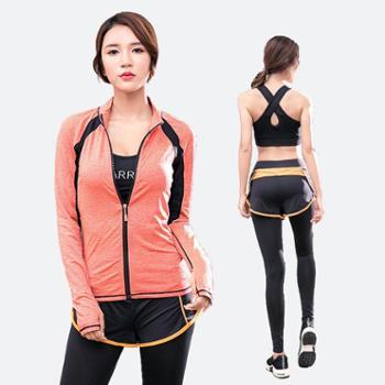 派衣阁韩版瑜伽服女三件套速干透气修身运动套装T1068