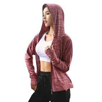 派衣阁瑜伽服套装女健身房跑步运动套装女拼色速干三件套T1070-1