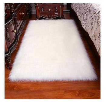 长毛绒地毯客厅家用卧室床边满铺可爱房间白色仿羊毛飘窗地垫