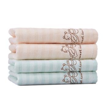 洁丽雅 儿童小毛巾4条小面巾 纯棉