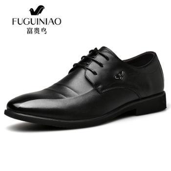 富贵鸟男士皮鞋英伦商务正装真皮鞋子 春低帮潮流单鞋