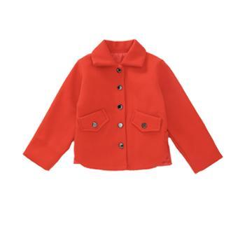 漫露可女童呢子大衣韩版洋气秋冬儿童童装冬装大童加厚毛呢外套