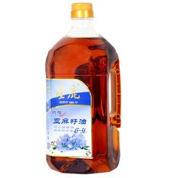 金鹿熟榨亚麻籽油1.8L