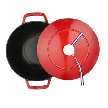 双立人法国进口Staub铸铁锅(24厘米樱桃红)SA-P005