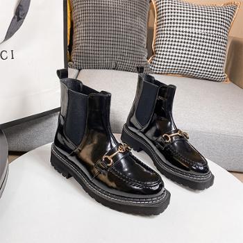 yolandazula马丁靴女秋季靴子女厚底2020年新款