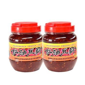 和记佛顶山红油豆瓣酱500g*2瓶装调味品