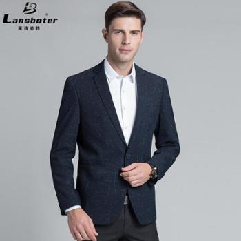 莱诗伯特男士西服商务西装男休闲西服小西装青年外套男单西修身西服男士男装