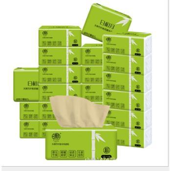 日相月竹浆本色纸 抽纸 面巾纸抑菌抽纸纸巾一提10包卫生纸餐巾包