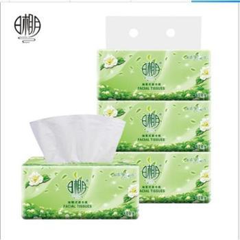 日相月绿茶抽取式面巾纸3包一提