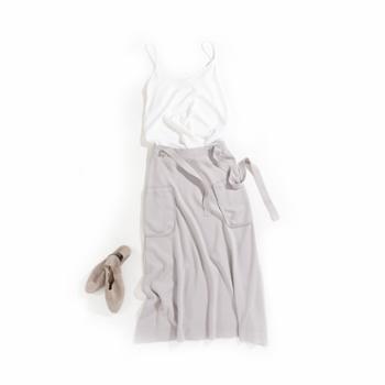 雪莲META针织精纺女士A字廓形半裙K271602