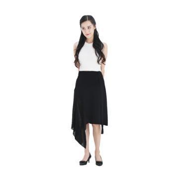 雪莲META针织精纺女士不对称设计感半裙K271604