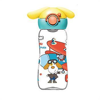 婴侍卫硅胶直饮口儿童水瓶(400毫升/带耳朵)TMY-4410