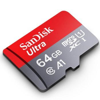 闪迪TF卡64G手机内存卡98MMicroSD行车记录仪存储