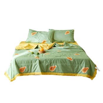 心恋巢全棉空调被四件套组合套装 夏凉被*1+床单*1+枕套*2