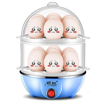 迷你多功能双层煮蛋器不锈钢蒸蛋器自动断电家用小型早餐机