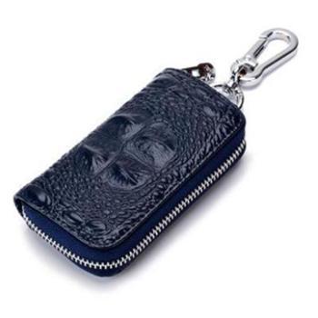 鳄鱼纹汽车钥匙包男士真皮拉链钥匙包牛皮多功能腰挂锁匙包CL-984