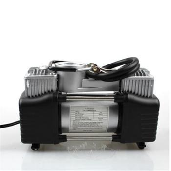 汽车双缸充气泵24.5*10*20CM车载打气泵大功率充气泵金属快充双缸