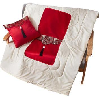 芳恩家纺FN-R743金玉锦绣抱枕被多功能抱枕被子两用汽车沙发靠垫被
