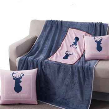 芳恩家纺FN-R7003数码印暖绒抱枕毯抱枕被子两用办公室午睡枕多功能枕头被折叠毯汽车靠垫靠枕