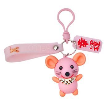 韩版潮流滴胶老鼠钥匙扣女卡通可爱情侣钥匙链包挂