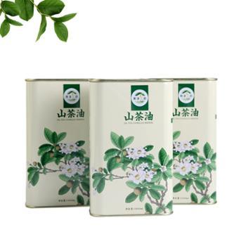 蜂凌三韵汉阴县特产低温压榨一级茶油食用油1000ml