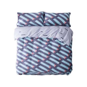 京东京造纯棉暖绒四件套被套床单枕套床上用品套件维亚