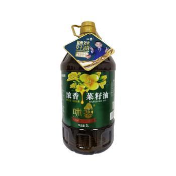 咪然 浓香菜籽油 5L