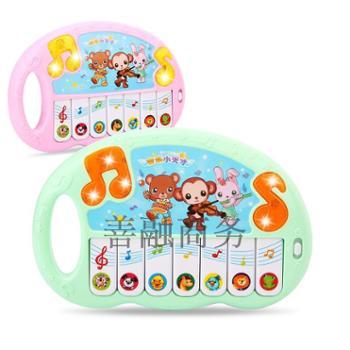 乐童童 儿童电子玩具琴音乐儿歌音符动物叫声