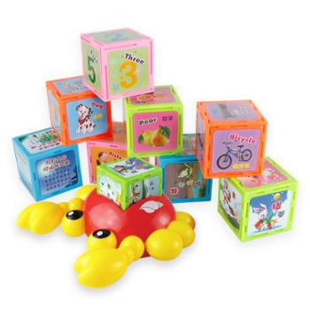 乐童童 儿童玩具早教点读魔方点读机早教机 套装 8套学习内容 趣味点读玩法