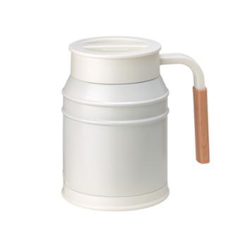 日本mosh清新复古简约可爱牛奶罐保温保冷不锈钢马克咖啡杯400ml
