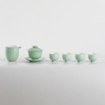 私享·金和汇景高温颜色釉豆青六头茶具