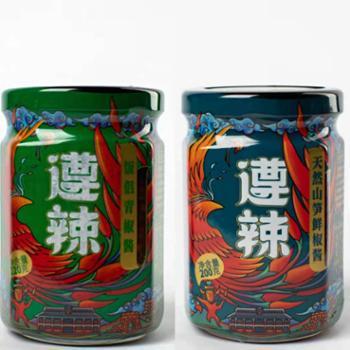 遵辣经典6款辣椒酱组合装1260g